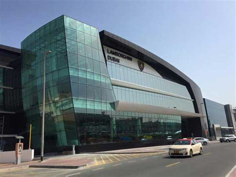 lamborghini showroom building lamborghini opens new showroom in dubai drivespark news