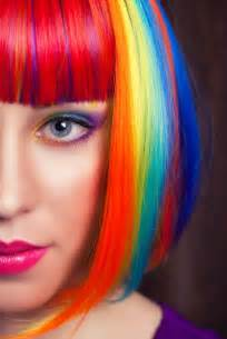 Do You Wash Hair After Coloring - rainbow hair lionesse flat irons
