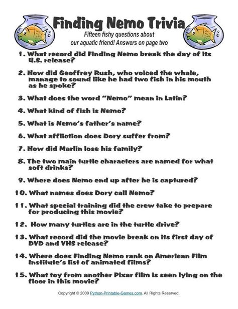 movie theme quiz with answers pop culture games finding nemo trivia 1 95 pop