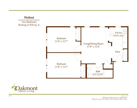 950 square feet walnut 950 sq ft oakmont of fresno