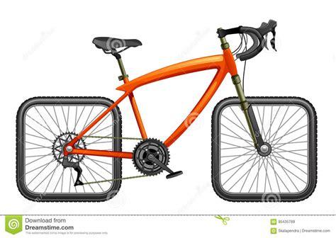 clipart bicicletta bicicletta con le ruote quadrate illustrazione vettoriale