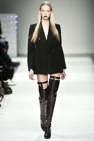 thigh high garter boots hussein chalayan shows daring