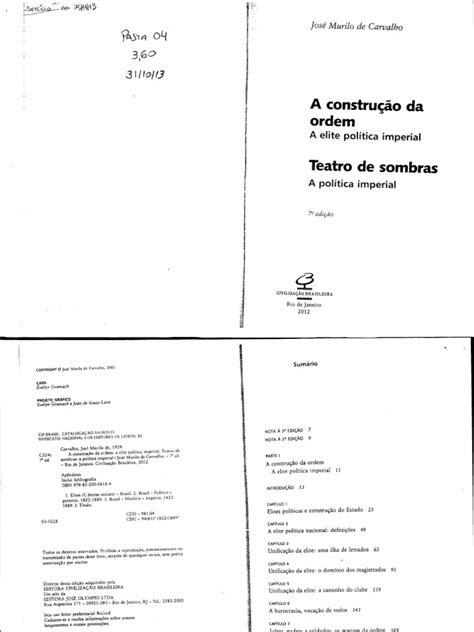 (Texto Para Exercício) José Murilo Carvalho - A Construção