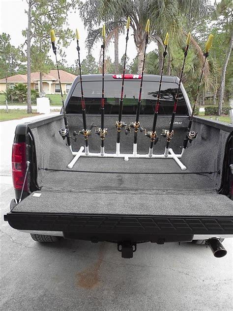 truck bed fishing rod holder homemade fishing rod holders car interior design
