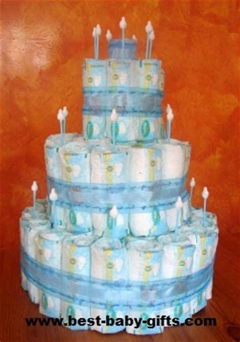 diaper cake directions   plain easy diaper cake