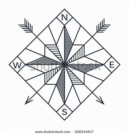 geometric designs using compass vector abstract geometric navigation star or compass in