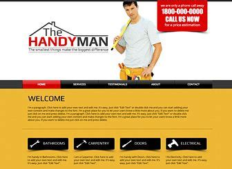 Handyman Template A Do It Yourself Website Template For Your Construction Business Or Handyman Do It Yourself Website Templates