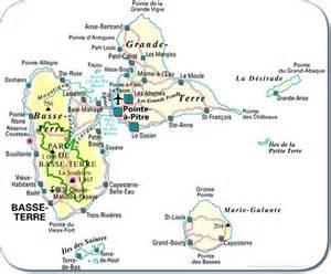 Plan des r 233 gions haute et basse terre guadeloup 233 ennes