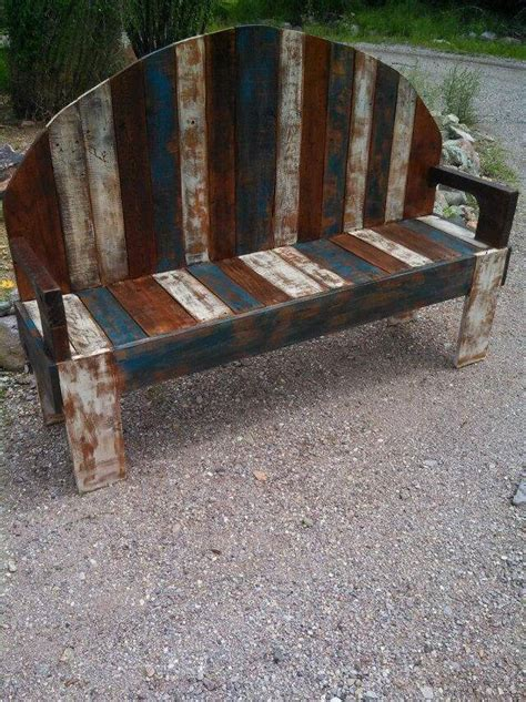 diy pallet outdoor rustic bench pallet furniture diy handmade rustic pallet bench 101 pallets