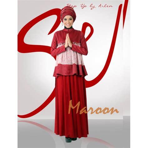 Baju Muslim Sifon Marron Mission72 su minary maroon baju muslim gamis modern