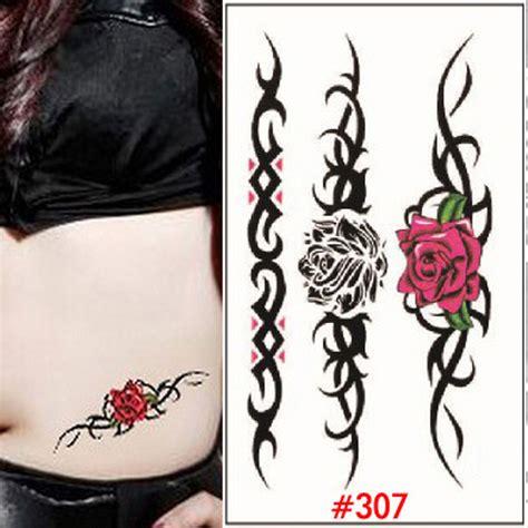 Jsa 01 Temporary Tato Temporer 1 mawar merah stiker tato temporer perut tato dada pinggul