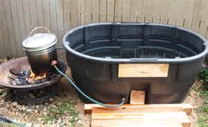 Homemade Serenity Make It mom s gift off grid fire heated hot tub homesteading