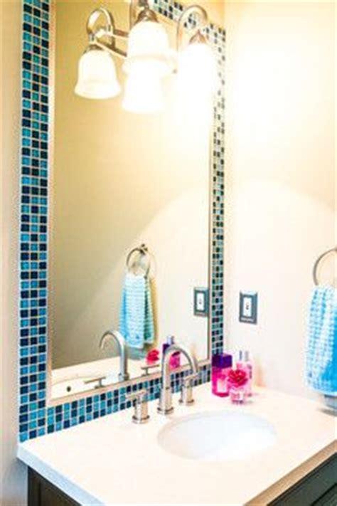 framed bathroom mirrors powder room pinterest mirror powder rooms and bathrooms glass tile mirror frame