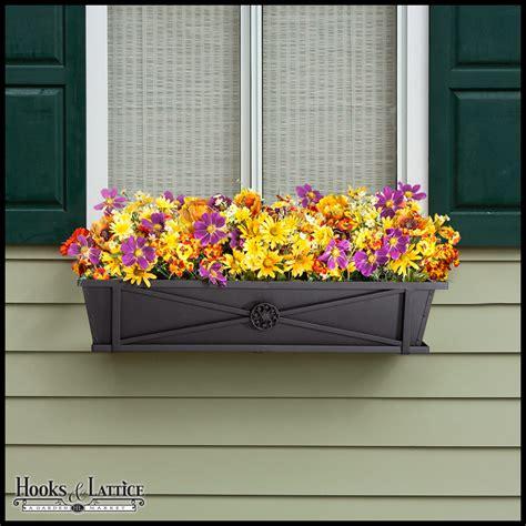 black metal window boxes black flower planter boxes window box hooks and lattice