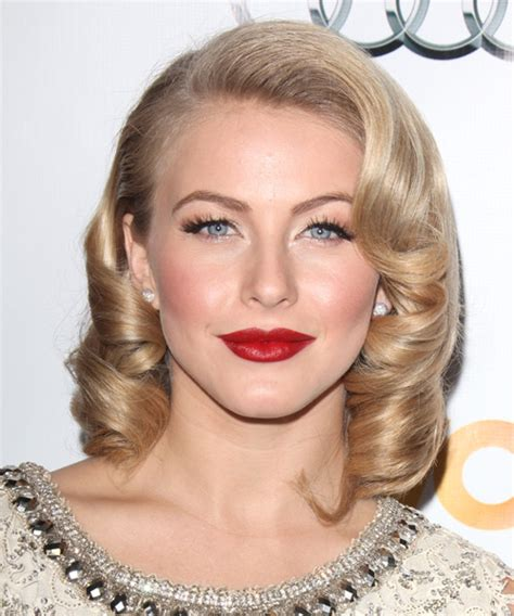 julianne hough face shape julianne hough medium curly formal bob hairstyle light