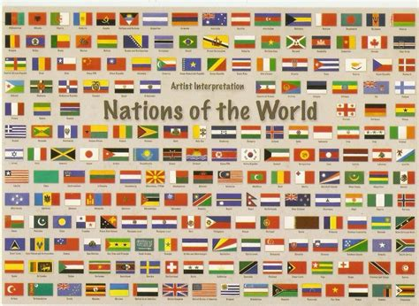 A World Of Candids Nation 6 by Postcard A La Carte Wanted Country Flags