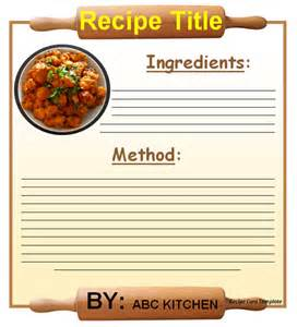 professional recipe template 20 free recipe card page book templates free