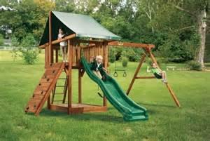 backyard playset just a swingin swing set ideas