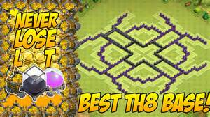 Clash of clans th8 air sweeper best town hall 8 th8 farming base