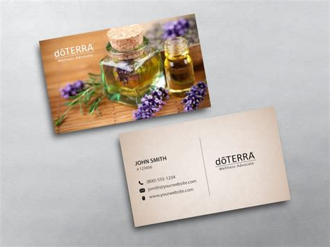 doterra business card template doterra business cards