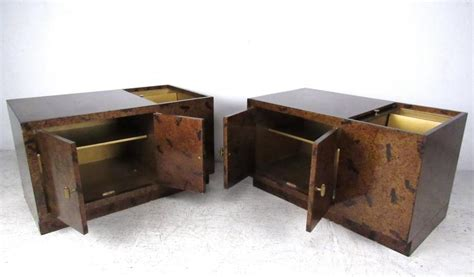 Tortoise Shell Table L by Pair Of Exquisite Tortoise Shell End Tables By Directional
