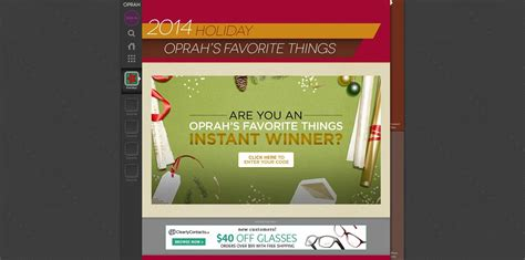Oprah Com 12 Days Sweepstakes - oprah com instantwincover oprah s favorite things instant win sweepstakes win