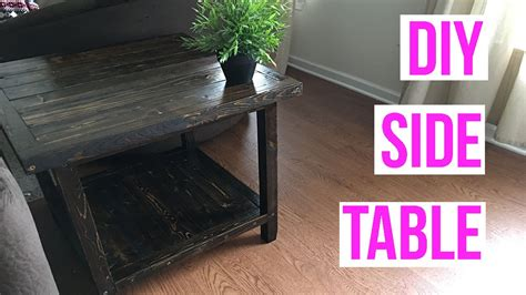 easy diy side table youtube