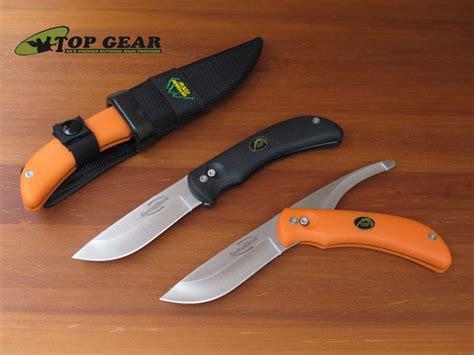 swing blaze outdoor edge swing blaze hunting knife w orange handle