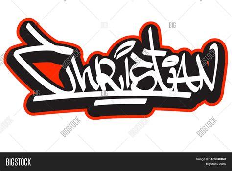 Sticker Nama Cutout Cutting Sticker Set6 christian graffiti font style name vector photo bigstock