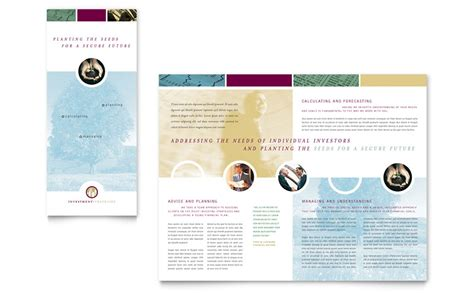 microsoft publisher tri fold brochure templates financial consulting tri fold brochure template word