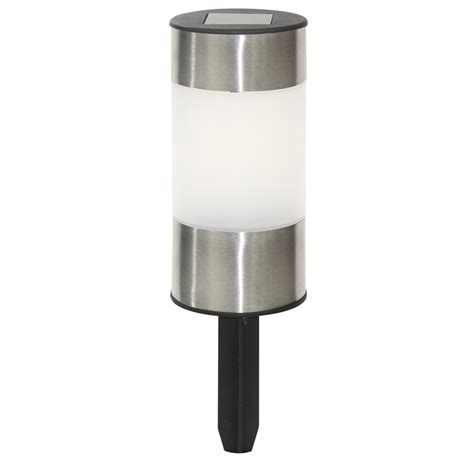 Click 12 5cm Stainless Steel Mini Solar Bollard Led Light Solar Led Bollard Lights