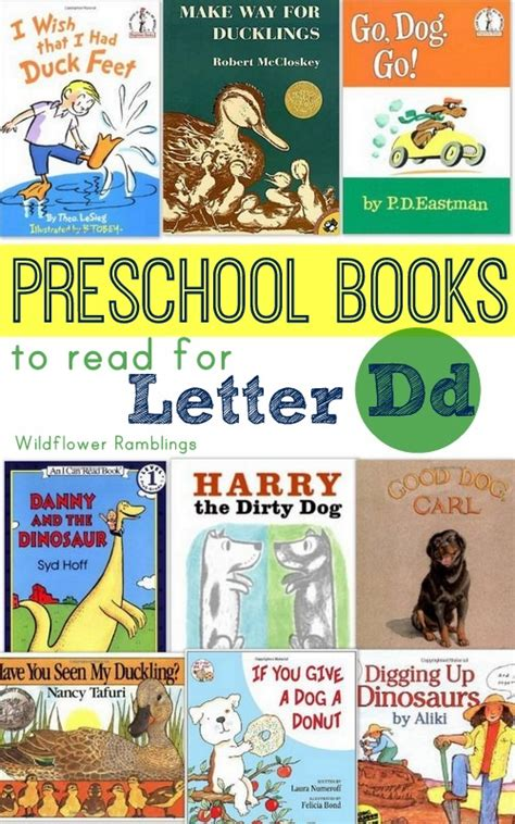 letters to a books preschool books for the letter d wildflower ramblings
