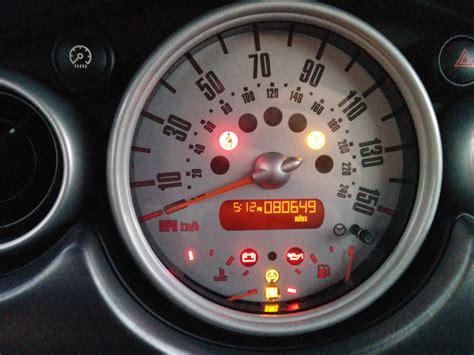 mini cooper dash lights broken airbag light motoring