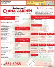 restaurant china garden menu prices 2155 boul sainte