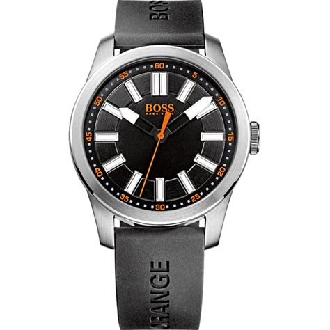 hugo orange s black rubber designer