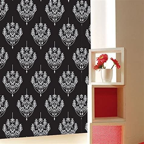 black pattern contact paper black and white chandelier pattern contact paper self