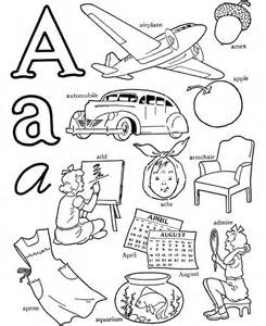colors that start with the letter a abc alphabet words coloring activity sheet letter a
