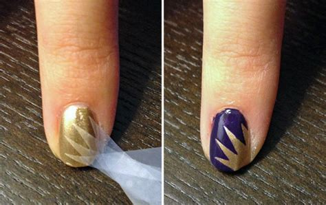 design your nails with tape 25 beautiful starburst nails with tape 2015 16