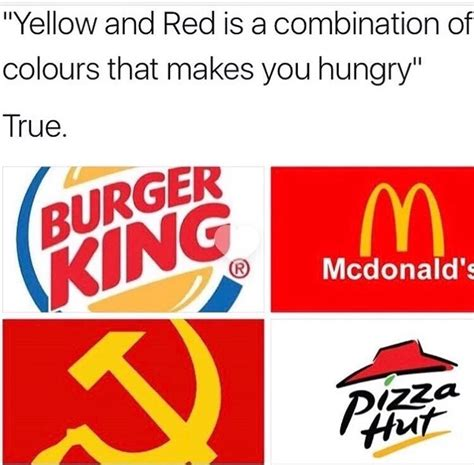 colors that make you hungry yellow and is a combination of colors that makes you