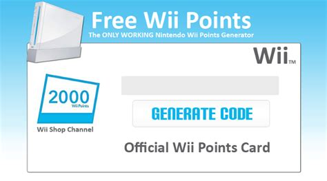 Wii Gift Card Generator - free wii points codes generator v3 0 no survey download