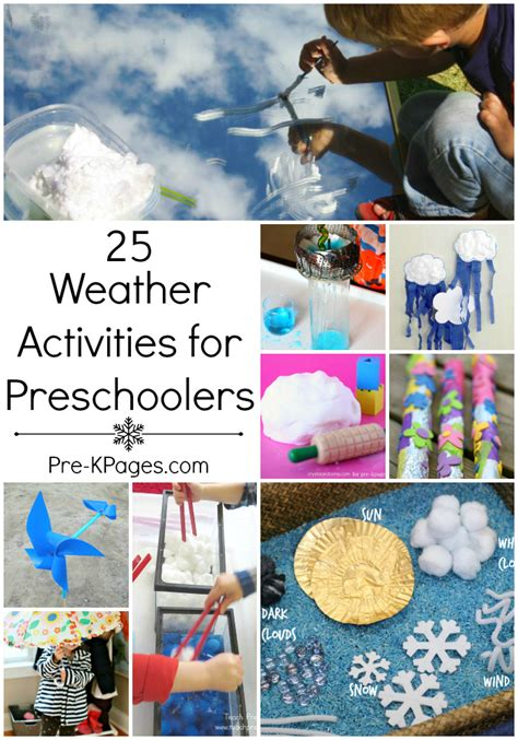 for preschoolers weather activities for preschoolers