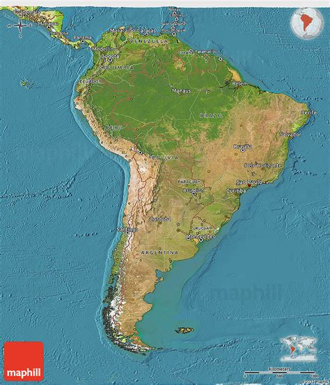 south america map physical satellite 3d map of south america physical outside