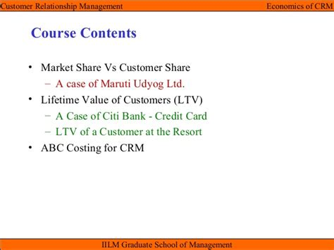 Customer Relationship Management Notes Mba Pdf by Crm Unit Iii Economics Of Crm