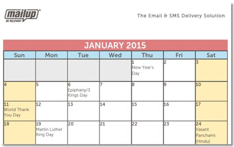Email Calendar Template a 2015 editorial calendar template for savvy email marketers