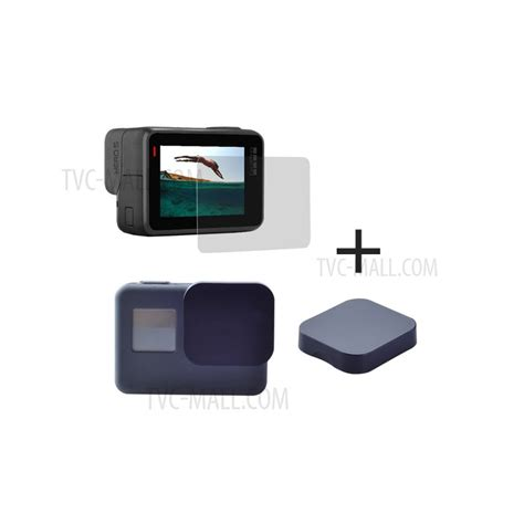 Tempered Glass Screen Protection For Gopro 5 Diskon 2pcs tempered glass screen protectors 2pcs lens covers for gopro 5 hero5 black