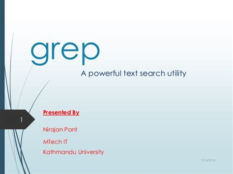 Powerful Search Grep A Powerful Search Utility