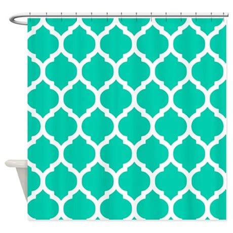 moroccan trellis curtains teal blue moroccan trellis shower curtain by doodles design