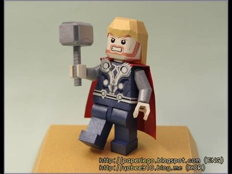 How To Make A Paper Lego - highlight of lego thor papercraft paper