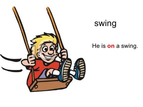 swing tenses prepositions down up across over on under