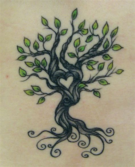 heart tree love it tattoo ideas central